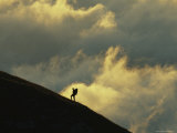 Silhouette of a Hiker at Sunset