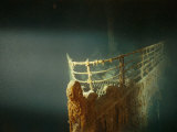 Rusted Prow of the RMS Titanic Ocean Liner  Sunk off Newfoundland  North Atlantic Ocean