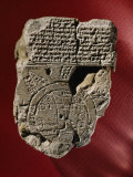 A Mesopotamian World Map and Its Accompanying Text Written in Cuneiform Found on a Clay Tablet