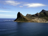 Rocky Cliffs Fall Sheer to the Water Near Hout Bay  Republic of South Africa