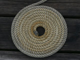 A Boat Rope Coiled in a Pattern to Avoid Tangling