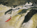 Kayaker Races Off the Top of the Great Falls in the Potomac River