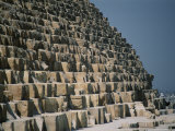A Close View of the Base of the Great Pyramid of Cheops