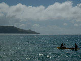 Two People Kayaking on the Caribbean Sea