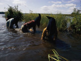 Students Wearing Masks Wade in Lake Nakomas