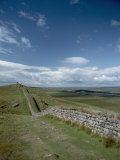 Hadrians Wall Stretches Across the English Countryside