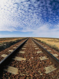 Clouds Hover over Old Railroad Tracks