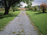 A Gravel Road Marks the Entrance/Exit to Waveland Farm in Nebraska