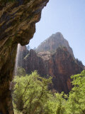 The Weeping Rock Drips Cool Water on a Hot Summer Day