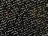 Close View of Names Carved in the Vietnam Veterans Memorial