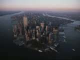 An Aerial View of the South End of Manhattan Island
