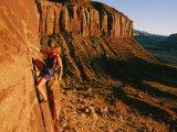 A Woman Rock-Climbing at Indian Creek