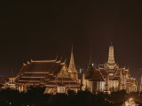 A Night View of the Grand Palace Lit from Top to Bottom