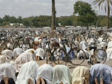 Friday Worshippers at the Mosque in Kano