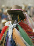 A Figure Dressed up for a Religious Celebration in Santiago