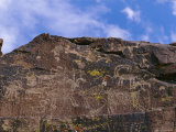 Close View of a Petroglyph in Little Petroglyph Canyon