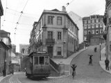Lisbon Street Scene with Tramcar