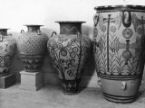 A Photograph of Ancient Jars Found in Knossos