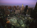 An Aerial View of Ground Zero and Surrounding Buildings