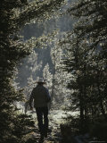 A Man on a Trail in the Wind River Range
