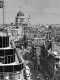 Elevated View of Fleet Street and Saint Pauls Cathedral