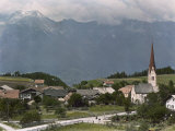 View of a Picturesque Austrian Village Near Innsbruck