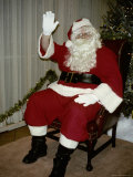 A Classic Santa Claus Waves His Holiday Greetings