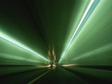 Passing at High Speed Through Tunnel