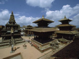 Durbar Square Showing the Statue of Garuda  Kathmandu Valley  Nepal