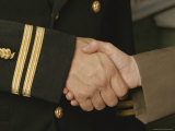 A Close View of a Handshake