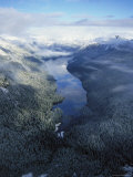 An Aerial View of an Alpine Lake in Misty Fjord National Monument
