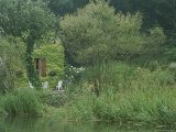 Ivy-Covered Cottage with Garden Along the Canal Du Nivernais