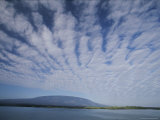 Clouds Stretch out in Long  Thin Lines Above the Galapagos Islands