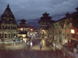 The Large Octagonal Krishna Temple and Other Temples  Durbar Square  Patan  Nepal