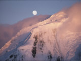 The Moon Rises over Snow-Blown Peaks on Anvers Island