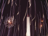 Fourth of July Fireworks and the Washington Monument  Washington  DC