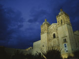 A View of Oaxacas Santo Domingo Church at Night