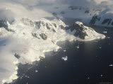 An Aerial View of the Gerlache Strait and Nearby Mountains