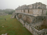 A Wide-Angle View of the Palace at Kabah in the Yucatans Puuc Region