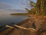 A View of the Shoreline in the Apostle Islands