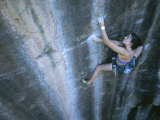 A Woman Climbing in Moab  Utah