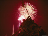Fourth of July Fireworks over the Iwo Jima Monument