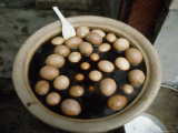 Bowl of Eggs Floating in Soy Sauce  Shanghai  China