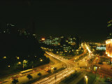 Traffic Whizzes Through the Night in a Chinese City
