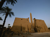 A View of the Exterior of a Temple at Luxor