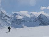 A Man Skis Across Patton Glacier