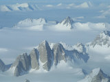 An Aerial View of the Queen Maud Mountains  Near Scott Glacier