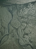 Aerial View of Mud Flats in Wattenmeer National Park