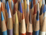 A Close View of a Cluster of Sharpened Colored Pencils