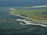 Aerial View of Wattenmeer National Park Shoreline  Germany